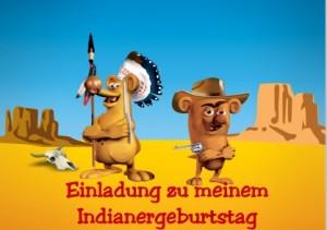 Einladung zum Indianergeburtstag