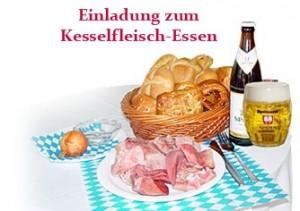Einladung zum Kesselfleisch-Essen