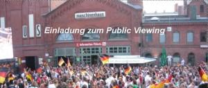 Einladung zum Public Viewing