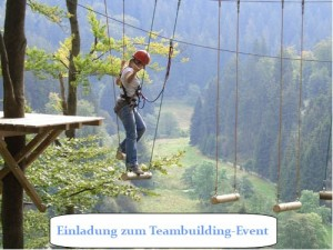 Einladung zum Teambuilding-Event