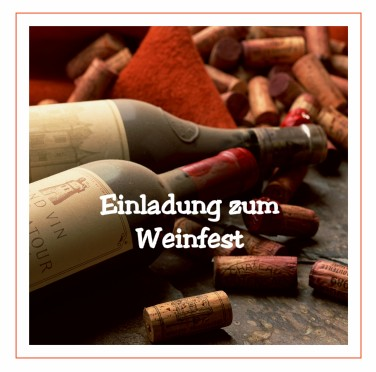 So einfach laden Sie zum Weinfest ein