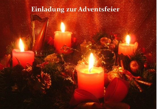 Einladung zur Adventsfeier im häuslichen Kreis