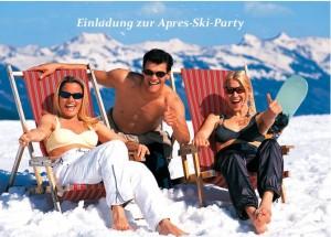 Einladung zur Apres-Ski-Party