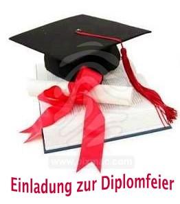 Geeignet als Einladung zur Diplomfeier