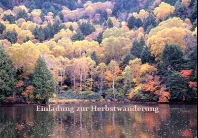 Einladung zur Herbstwanderung