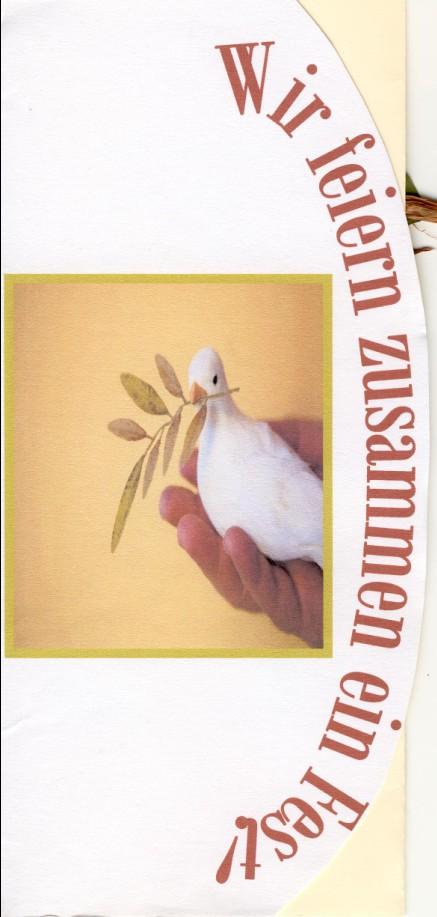 Zur Konfirmation kann man gut ein Taubenmotiv nehmen