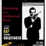 Zur Mottoparty Hollywood eigene sich verkleinerte Filmposter sehr gut