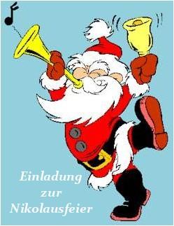 Selbstgestaltete Einladung für den Nikolaus