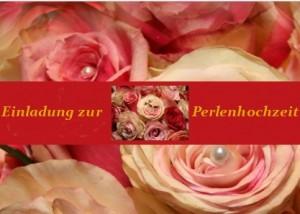 Einladung zur Perlenhochzeit