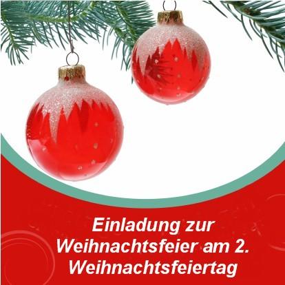 Einladung zur Weihnachtsfeier im Familienkreis - Einladungen auf ...