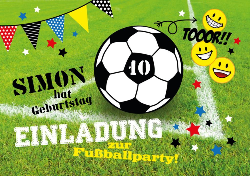 Geburtstag Fußballparty mit diesem Motiv mit Smileys