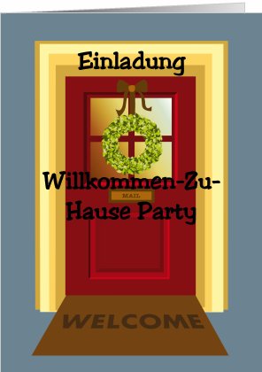 Einladung zur Welcome Home Party